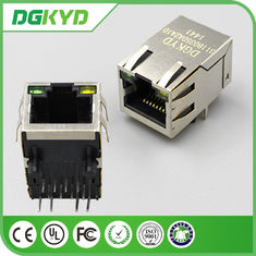 Cina Single Port Right Angle RJ45 Konektor PCB Jaringan Tahan Air pabrik