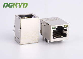 KRJ-H009GYNL Gigabit network jack rj45 keystone module Port tunggal dengan LED