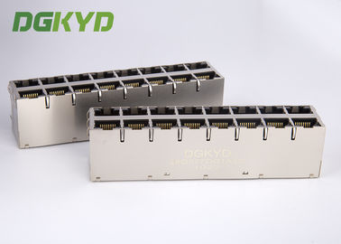 Cat6 RJ45 Magnetics jack 1000 basis T RJ45 Terlindung Konektor 2x4 dual deck 8 port