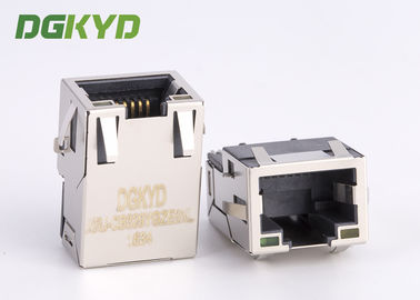 SMT Sinking di bawah PCB 1000BASE Integrated Magnetics rj45 network jack untuk gigabit ethernet