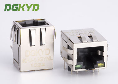 Cina 100 BASE Telekomunikasi RJ45 Modular Connector dengan Internal Transformer OEM pabrik
