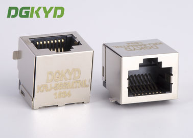 Disesuaikan port tunggal PCB mount SMD / SMT low profile rj45 modular jack