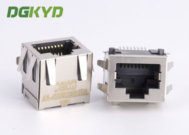 Disesuaikan Pcb Mount SMD / SMT Low Profile RJ45 Tunggal Port 10/100/1000 Base-Tx RJ45