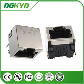 Single Port RJ45 terlindung Jack Tanpa Transformer, 10/100 / 1000BASE 8P8C Connector
