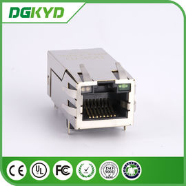 Disesuaikan 1000M 33.0mm Single Port 10 Pin RJ45 Connector dengan Transformer / Leds