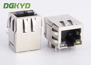Cina Single Rj45 Ethernet Jack Transformer Terintegrasi / Mode Umum Choke, Og / Y Led Distributor