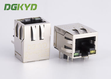 Cina Industrial Panel Mount modular jack cat6 rj45 dengan Internal Magnetics, HR911102A Distributor