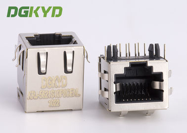 Cina Papan dilapisi PCB rj45 keystone Jack 10p8c connector, side entry Distributor