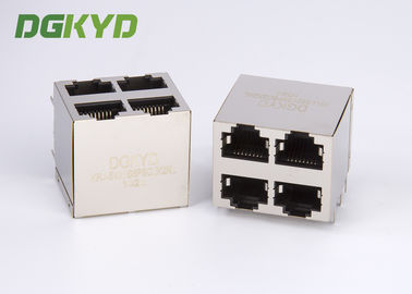 Cina KRJ-5921S8P8C2X2NL Shielded Ethernet Rj45 Jack Stack Mj Assy 8pos 2x2 Cat5 Distributor