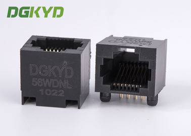 Cina DGKYD-56WDNL 100 Base T Sudut Kanan Rj45 Single Port jack black plastic housing Distributor
