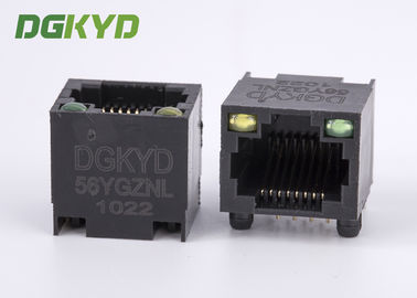 Cina DGKYD-56YGZNL Unshielded Ethernet Connector Rj45 Single Port dengan Y / G Led Distributor