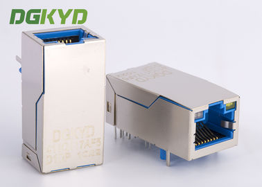 Cina Konektor Gigabit Ethernet RJ45 Female Jack Single Port 1000M PoE + Terdaftar jack Distributor